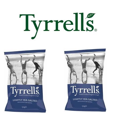 Khoai tây Tyrrells Lightly sea salted hand cooked crisps 150g