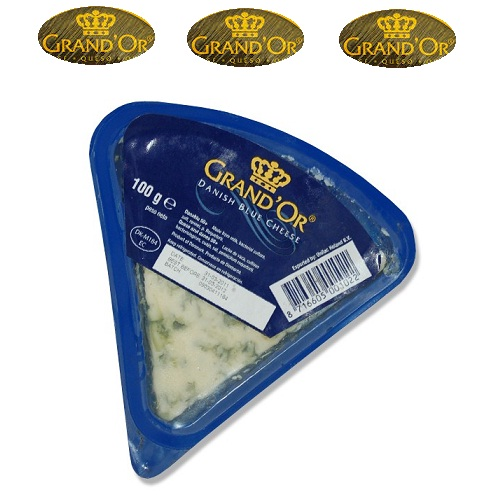 Phô mai Danish blue 100g hiệu Grand Or