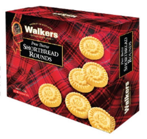Hộp bánh Walkers qui bơ giòn nguyên chất hình tròn 200g