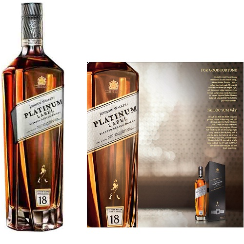 Rượu whisky Johnnie Walker Platinum 75cl