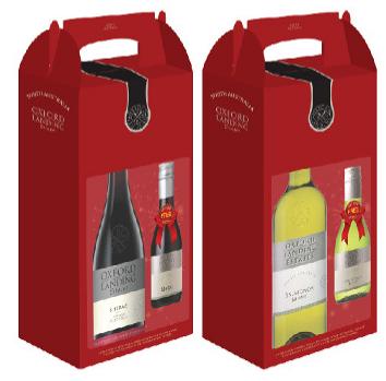 Hộp quà rượu Oxford Landing Shiraz 750ml + 01 Merlot 187ml