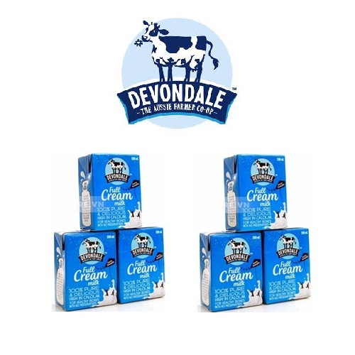 Sữa tươi Devondale nguyên kem 200ml - có hàng