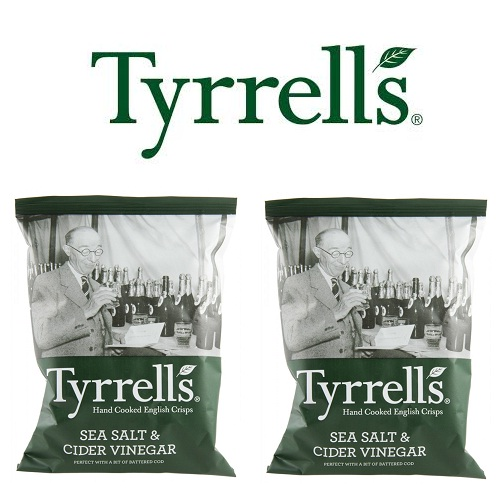 Khoai tây chiên Tyrrells - Sea salted and cider vinegar hand cooked crisps 40g