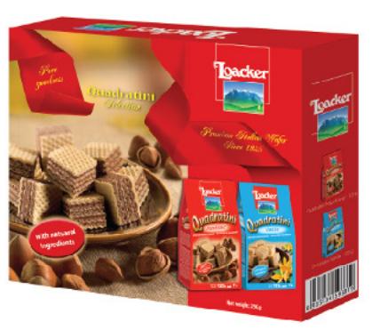 Hộp quà bánh xốp Loacker Quadratini Selection 250g
