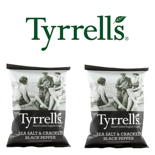 Khoai tây chiên salted and black pepper hand cooked crisps Tyrrells Sea 40g
