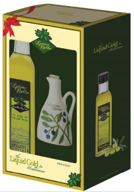 Hộp quà tặng dầu oliu nguyên chất Latino Bella 500ml