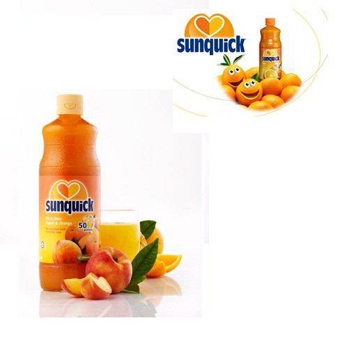Nước ép cô đặc đào và cam hiệu Sunquick 840 ml
