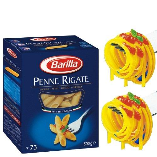 Mỳ Ý hiệu Barilla Penne nui ống tre lớn số 73 Hộp 500gr