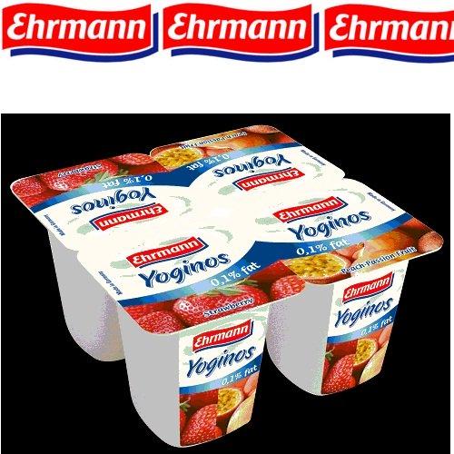 Sữa chua Yoginos  vị dâu/hỗn hợp đào (100gr/hộp)