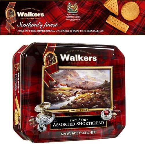 Bánh quy Walkers bơ hộp thiếc 240gr