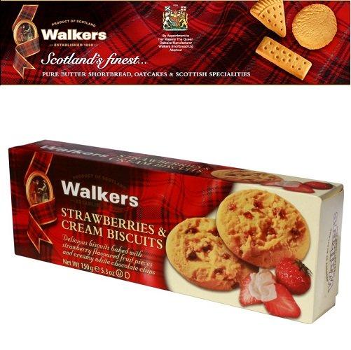 Bánh quy Walkers bơ vị kem dâu 150gr