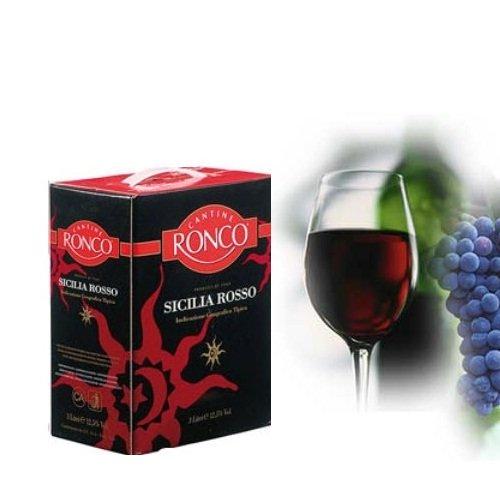 Vang bịch đỏ Ronco Sicilia Rosso BIBS 3 lít