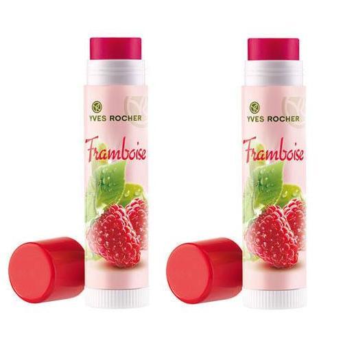 Son giữ ẩm dưỡng môi quả mâm xôi màu hồng nhẹ hiệu Yves Rocher