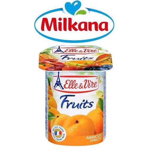 Sữa chua Milkana trái cây mơ 4x100g