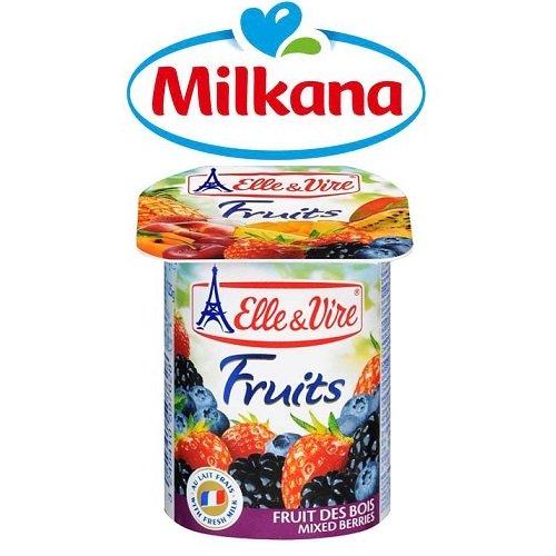 Sữa chua dâu hổn hợp Milkana 4x100g