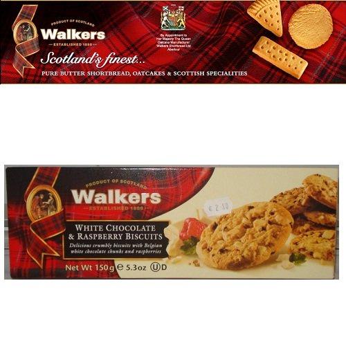 Bánh quy Walkers bơ chocolate vị mâm xôi 150gr