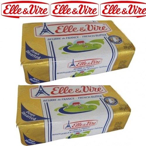 Bơ lạt tiệt trùng Pháp Elle & Vire 500gr